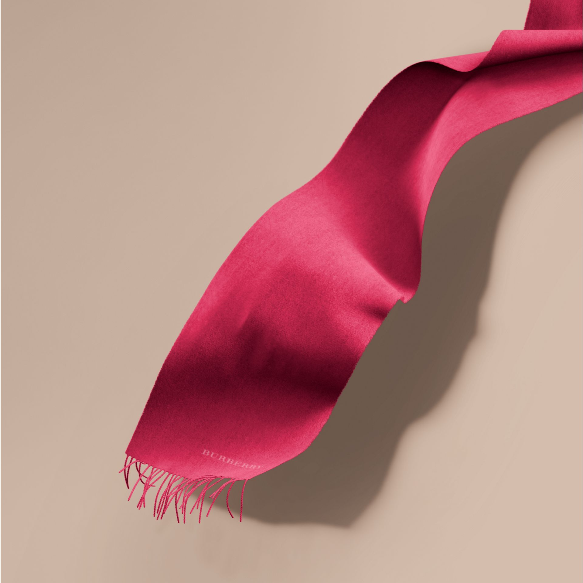 The Classic Cashmere Scarf in Fuchsia Pink | Burberry - gallery image 1