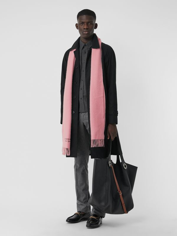 Embroidered Cashmere Fleece Scarf in Pale Rose | Burberry - cell image 2