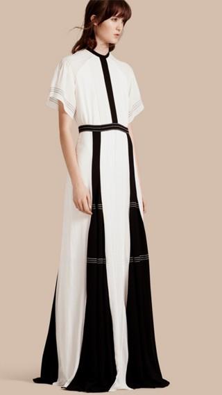 Robe extra-longue en soie