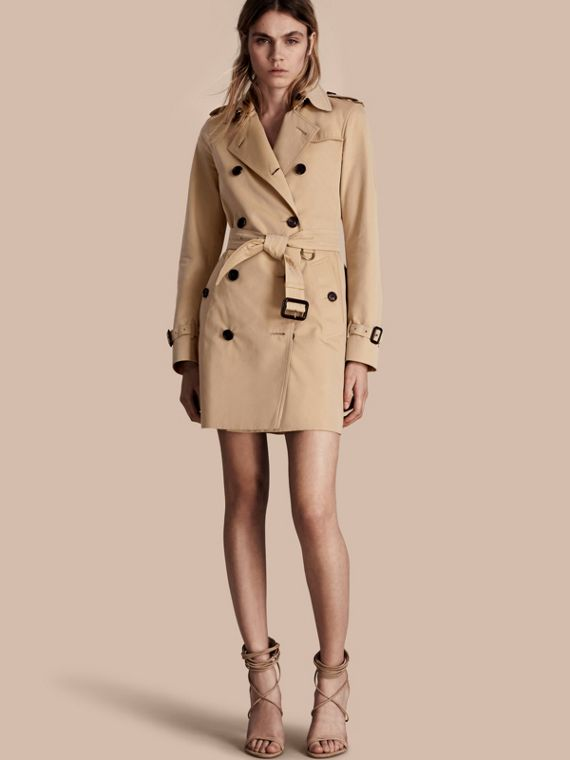 Trench coat Kensington - Trench coat Heritage de longitud media Miel