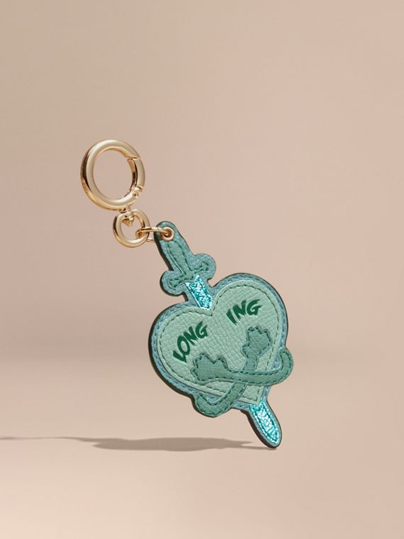 Longing Motif Leather Key Charm