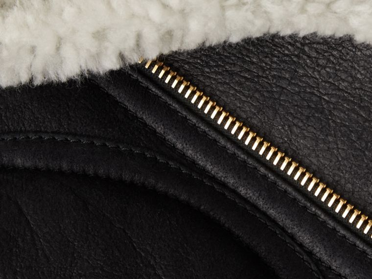Sculptural Shearling Flight Jacket - cell image 1