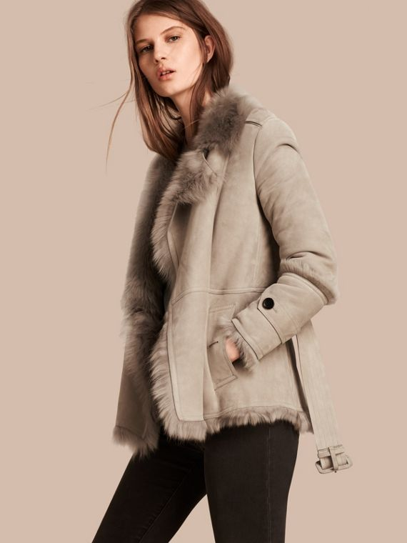 Shearling Wrap Jacket