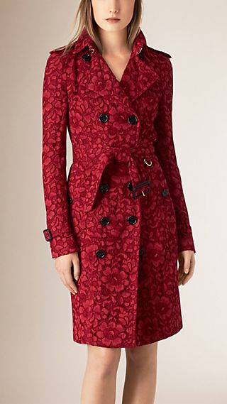 French Lace Trench Coat