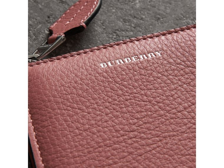 Grainy Leather Square Ziparound Wallet in Dusty Rose - Women | Burberry United Kingdom - cell image 1