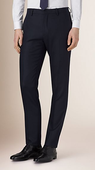 Slim Fit Travel Tailoring Wool Trousers