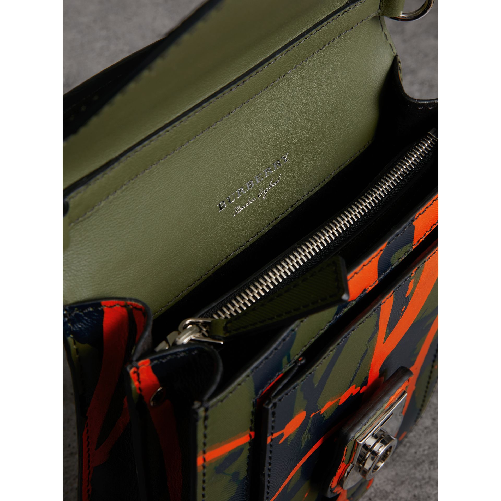 The Small DK88 Splash Satchel in Slate Green/splash - Men | Burberry - gallery image 5