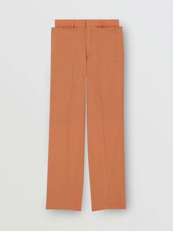 Pantalon ample en laine (Orange)