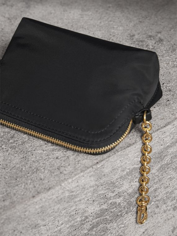 Small Zip-top Technical Nylon Pouch in Black - Women | Burberry Singapore - cell image 2