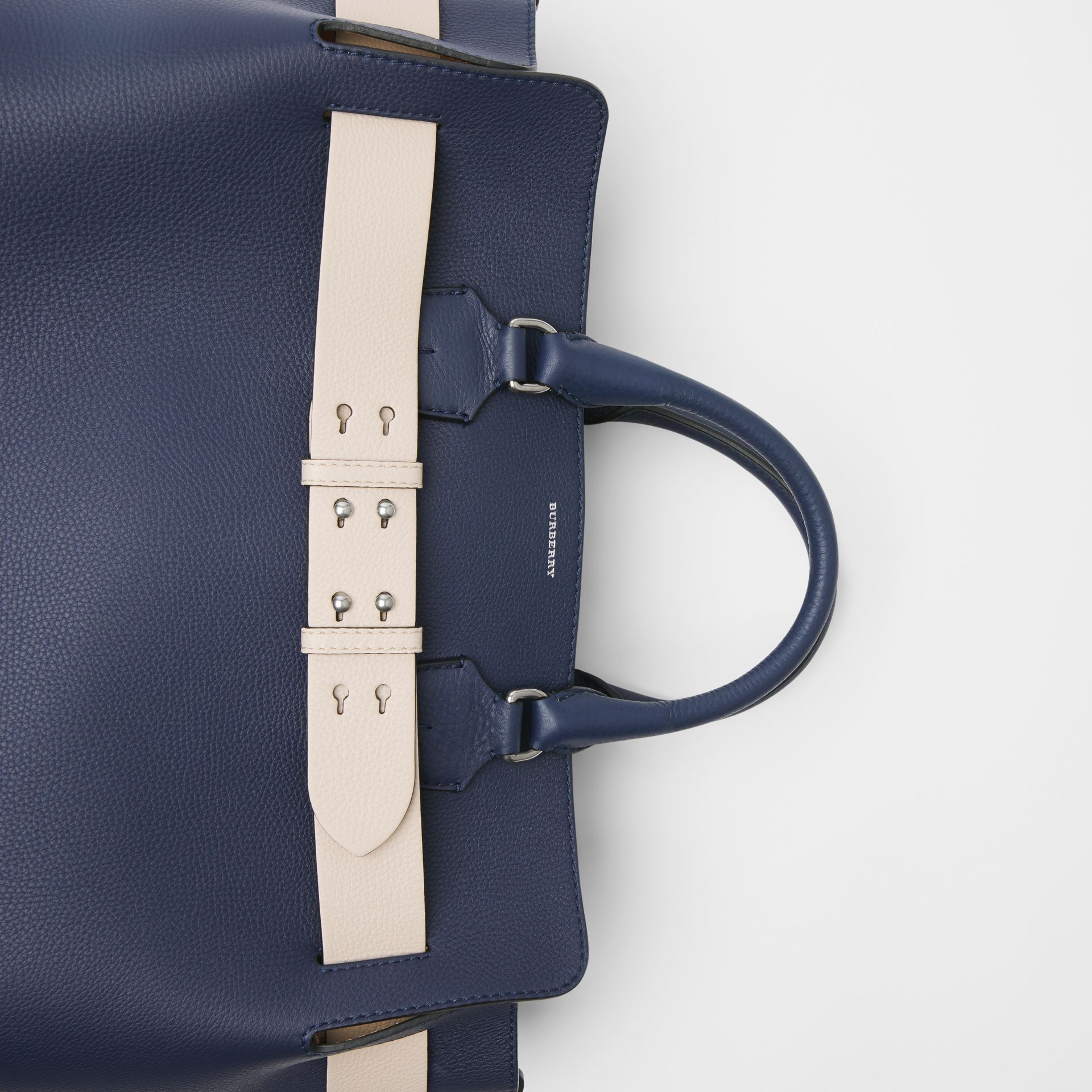 The Large Leather Belt Bag in Regency Blue - Women | Burberry Singapore - gallery image 1