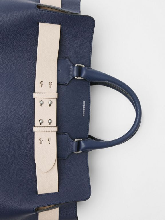 The Large Leather Belt Bag in Regency Blue - Women | Burberry Singapore - cell image 1
