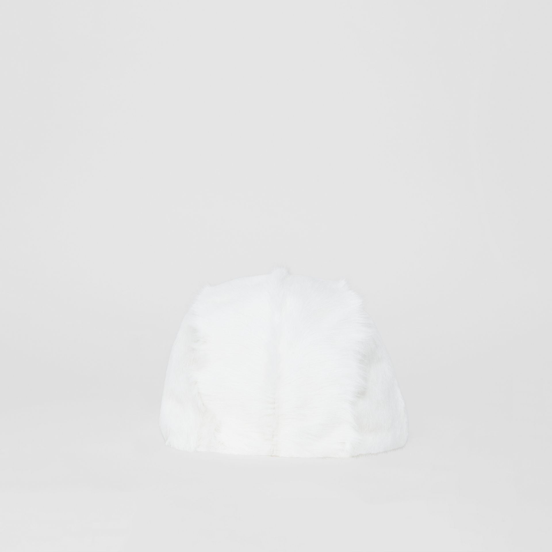 Goat Pilot Cap in White - Women | Burberry Australia - gallery image 3