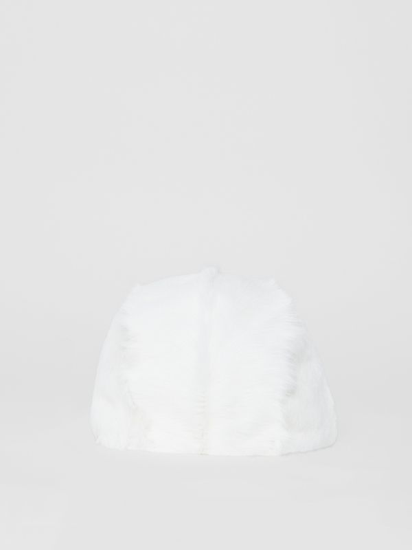 Goat Pilot Cap in White - Women | Burberry Australia - cell image 3
