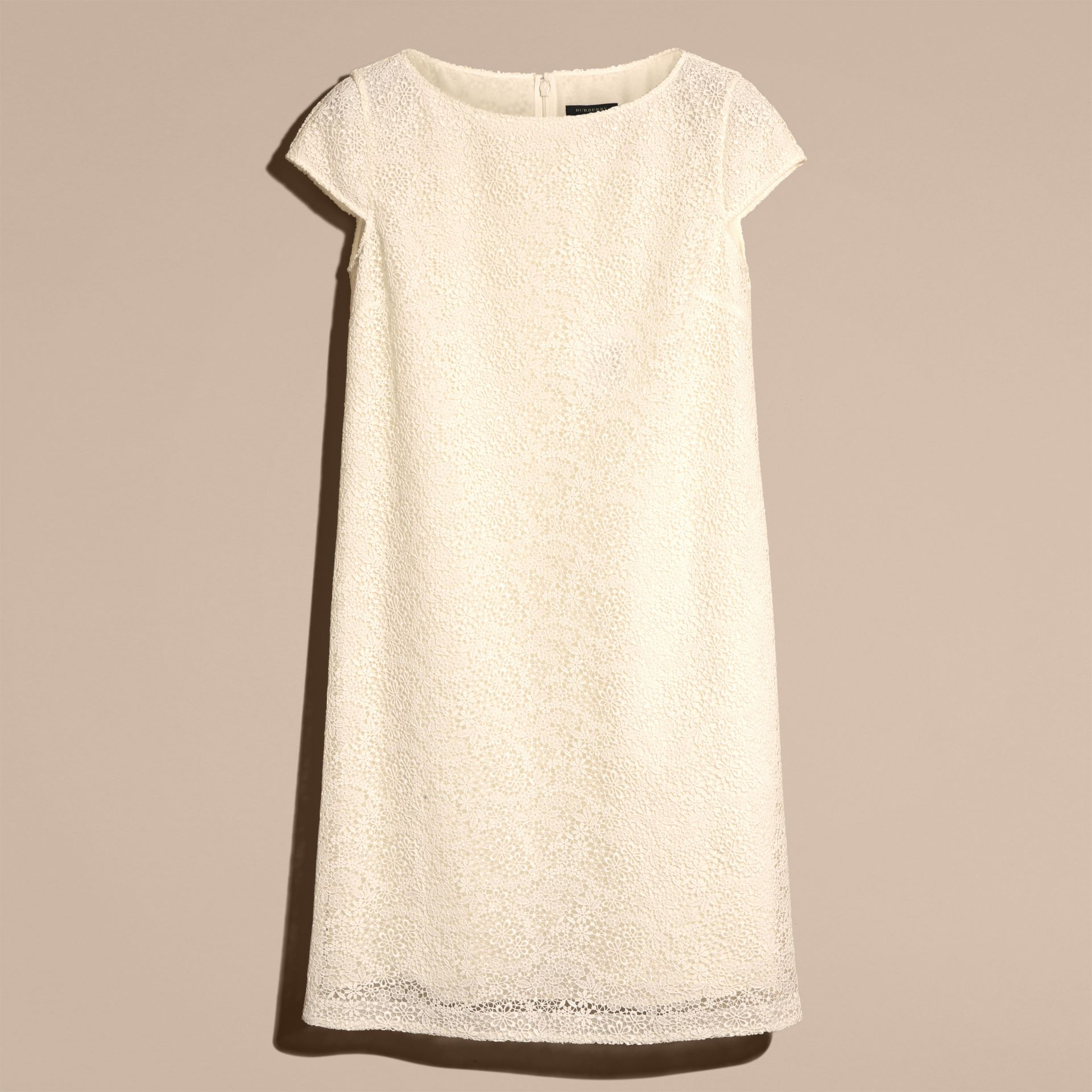 Off white Online Exclusive Italian Lace Shift Dress Off White - gallery image 4