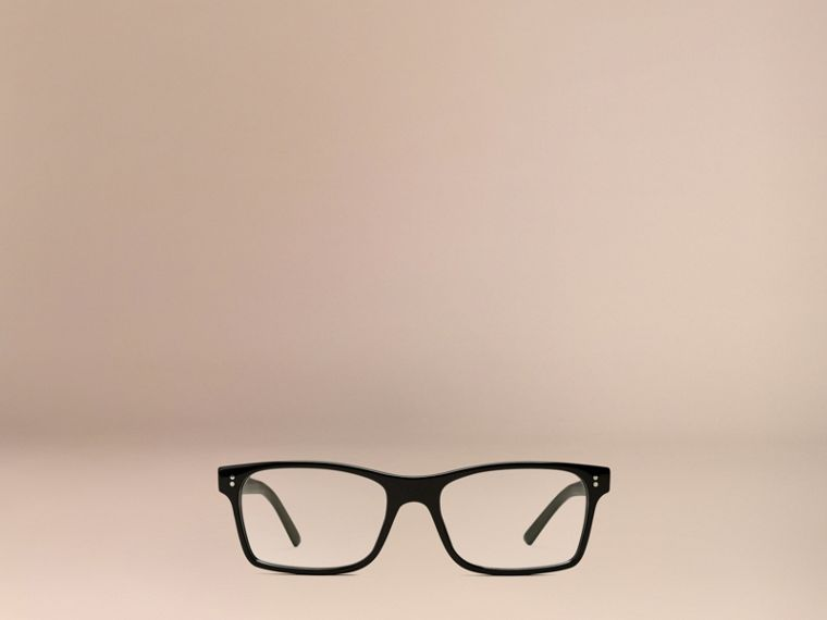 Black Rectangular Optical Frames Black - cell image 1