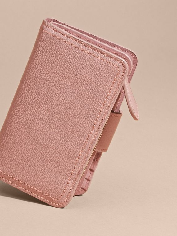 Dusty pink Buckle Detail Grainy Leather Wallet Dusty Pink - cell image 3