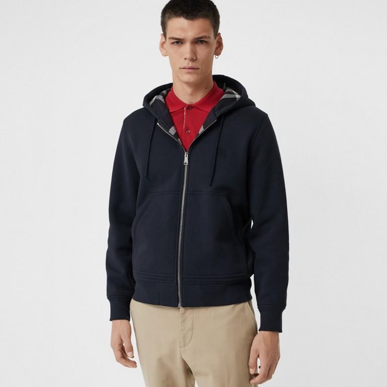 Burberry - Haut en jersey à capuche avec détails check - 5
