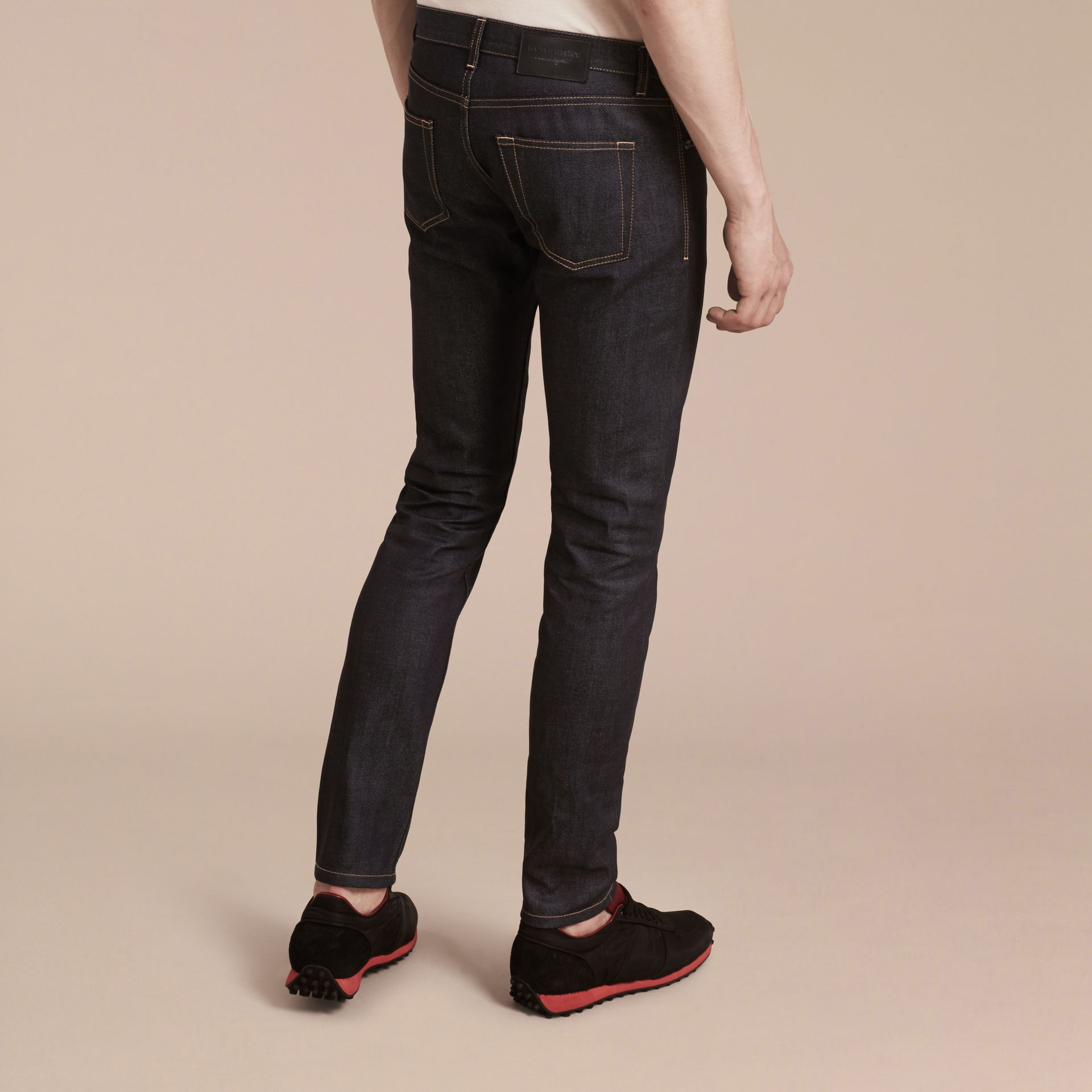 Indigo Slim Fit Japanese Denim Jeans Indigo - gallery image 3