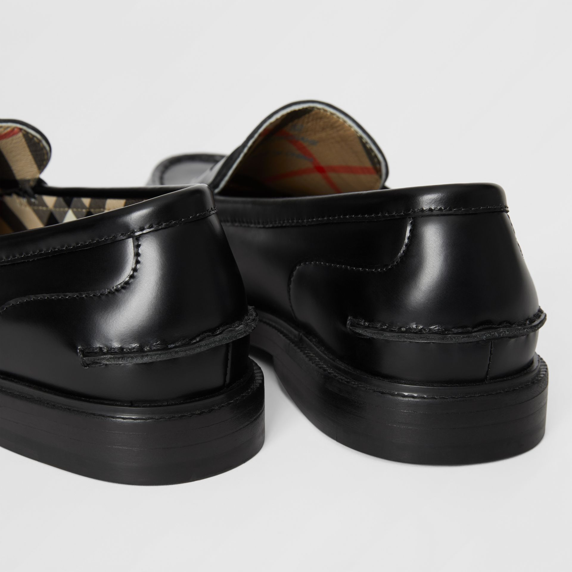 Smooth Leather Loafers in Black - Children | Burberry - gallery image 1