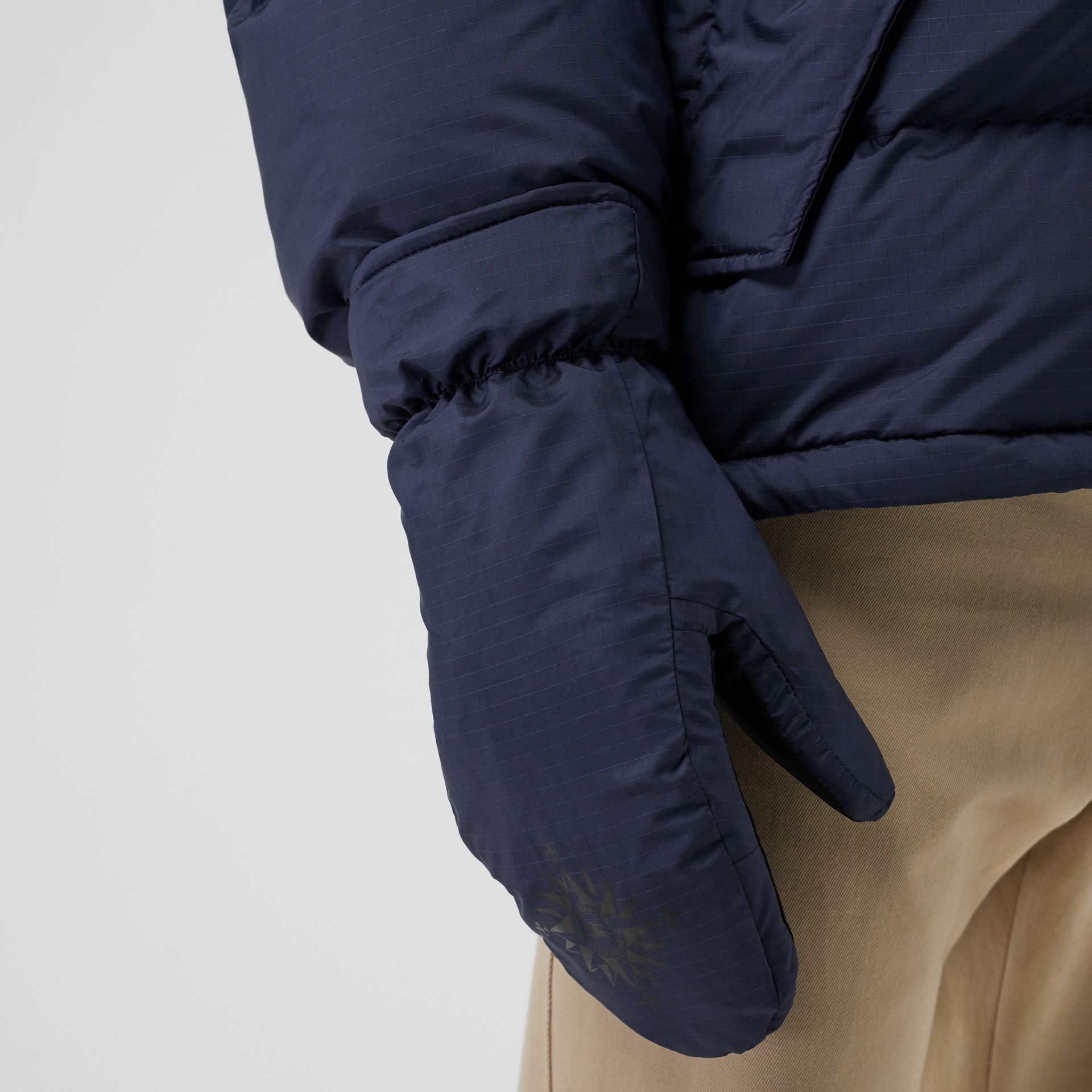 Down-filled Anorak with Detachable Mittens in Ink - Men | Burberry United Kingdom - gallery image 4