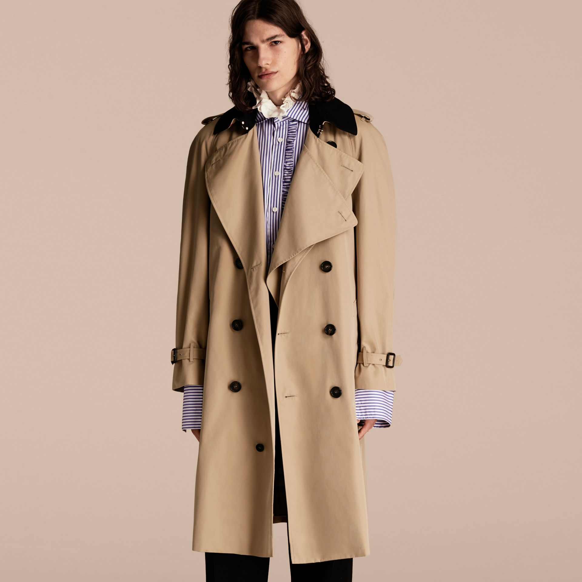 Honey Deconstructed Cotton Gabardine Heritage Trench Coat - gallery image 7