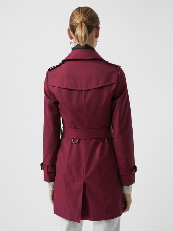 Sandringham Fit Cotton Gabardine Trench Coat in Crimson - Women | Burberry - cell image 2