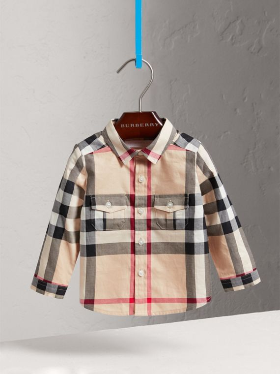 Check Cotton Shirt in New Classic