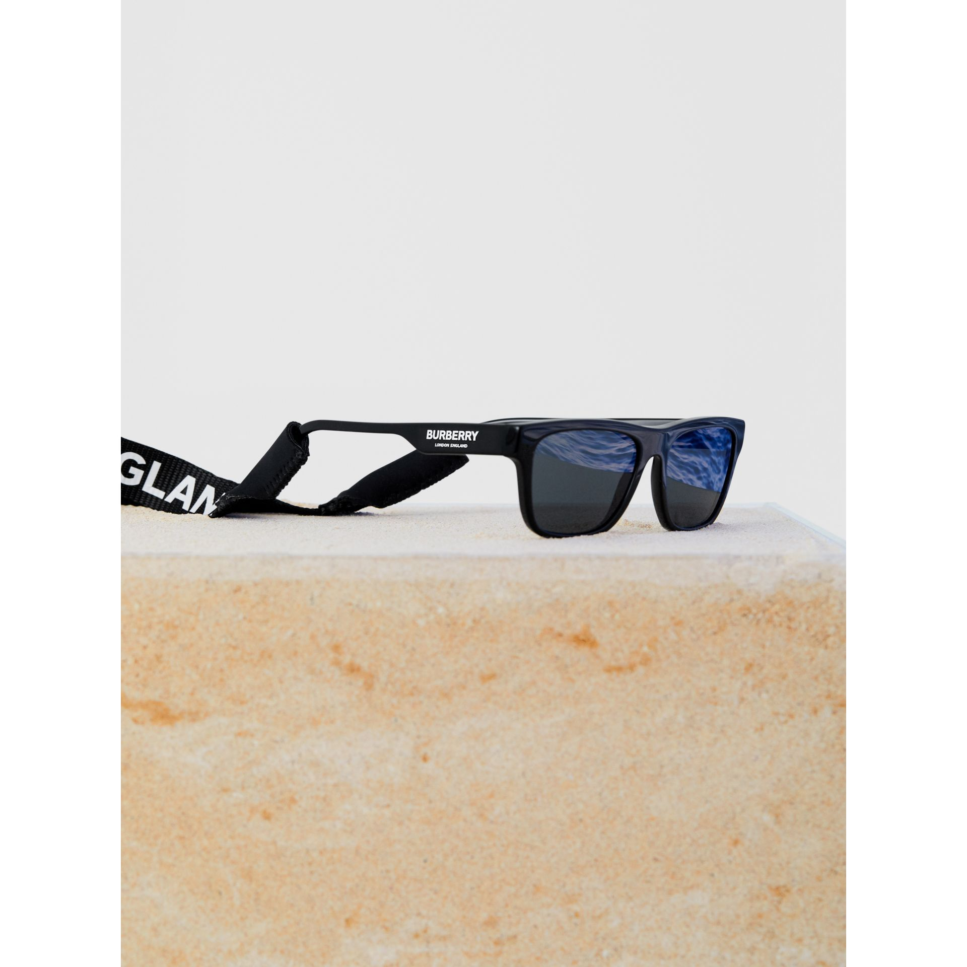 Logo Print Eyewear Lanyard in Black | Burberry - gallery image 5