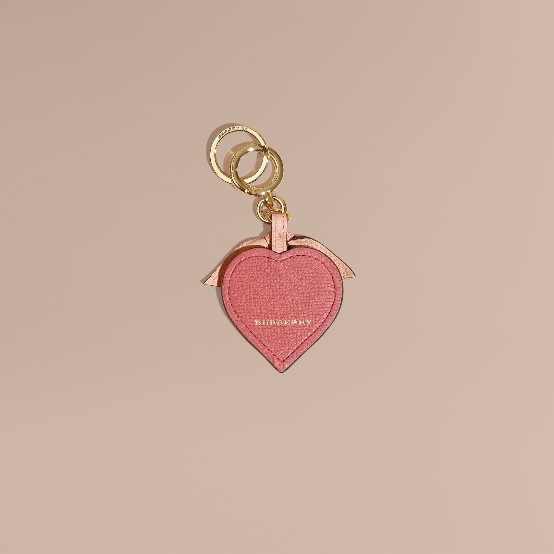 Young Love Motif Leather Key Charm - gallery image 2