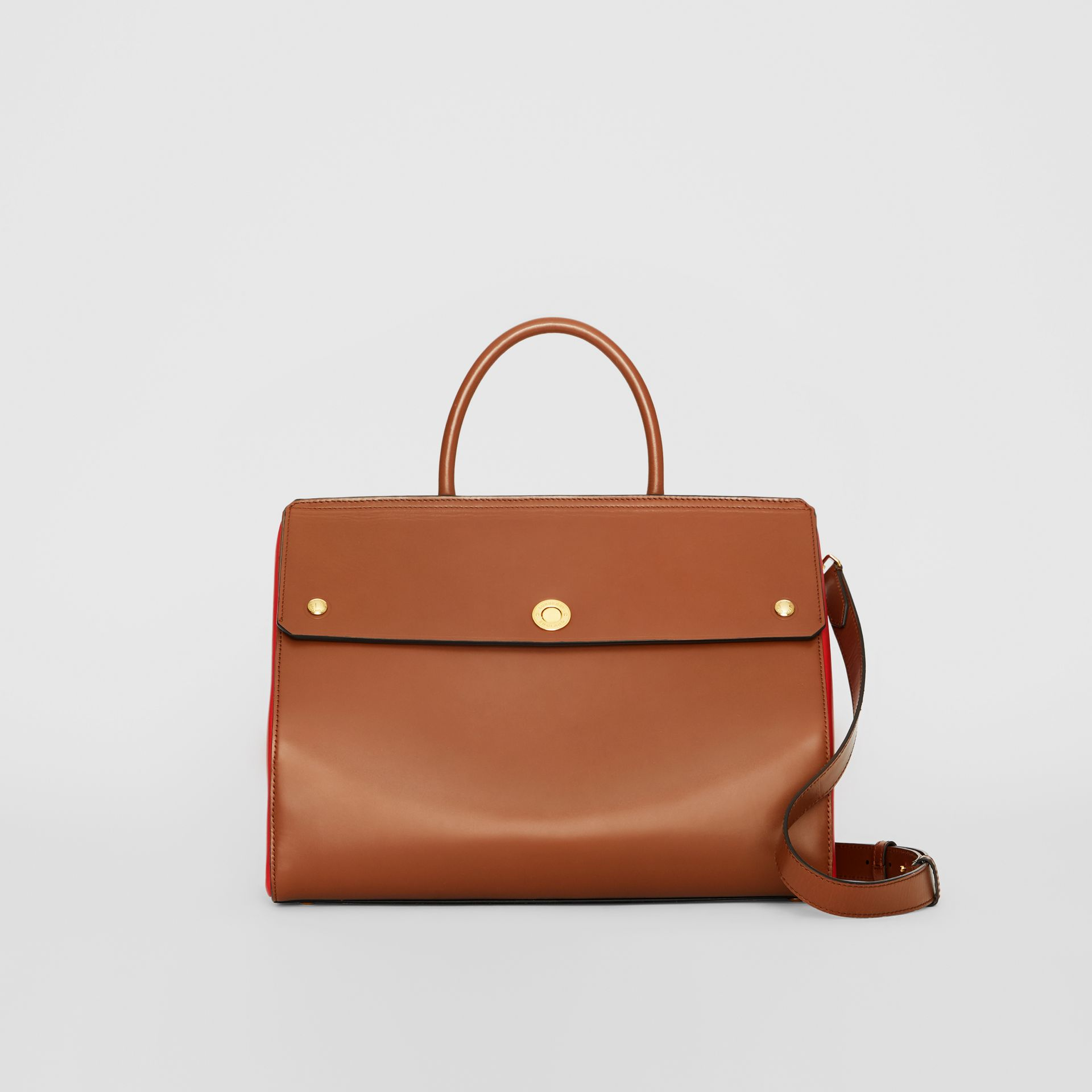 Medium Leather Elizabeth Bag in Malt Brown - Women | Burberry Australia - gallery image 0