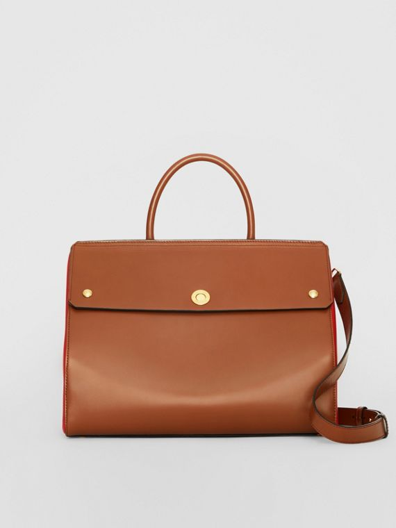 Borsa Elizabeth media in pelle (Marrone Malto)