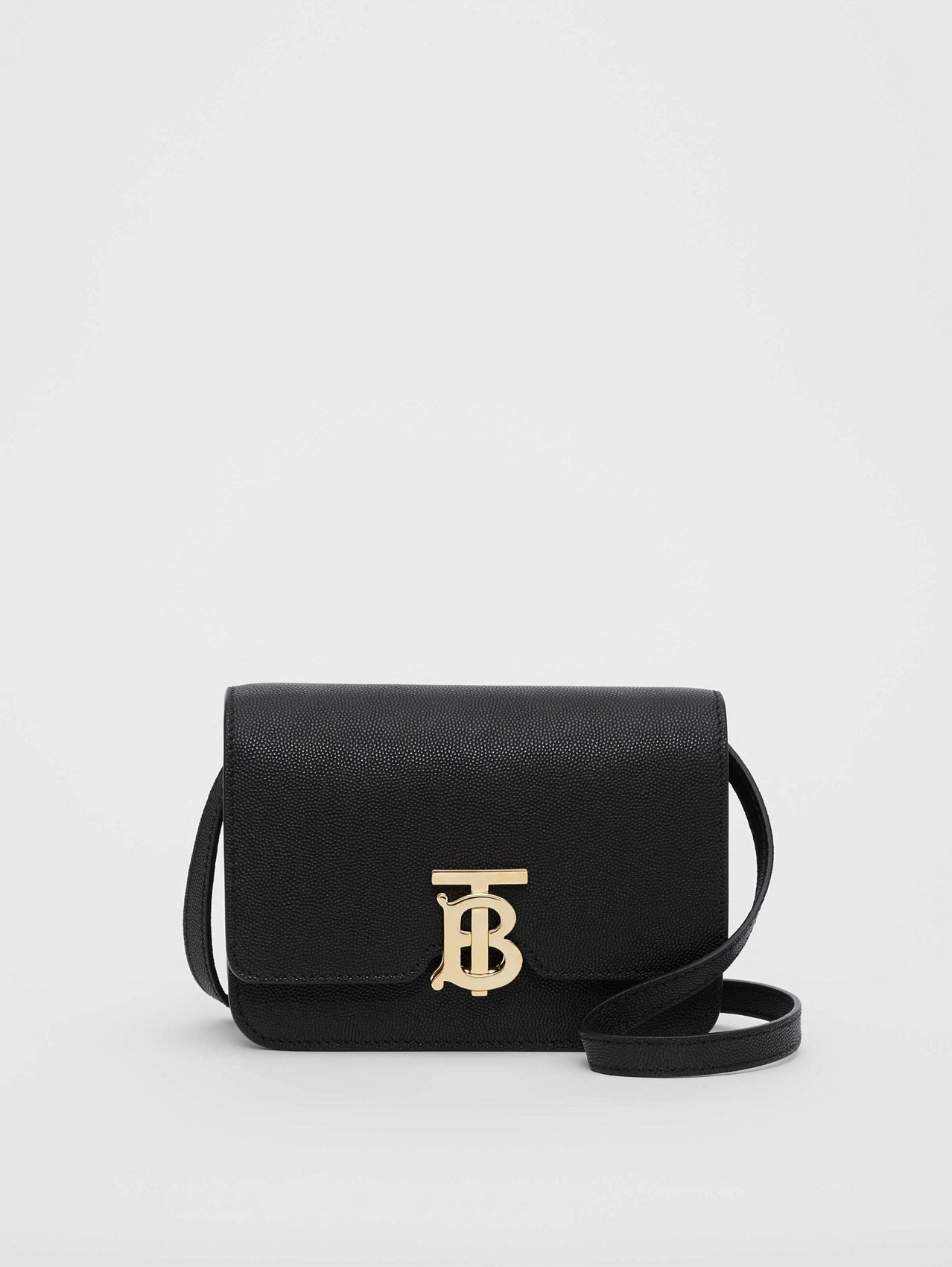 Mini Grainy Leather TB Bag (Black)