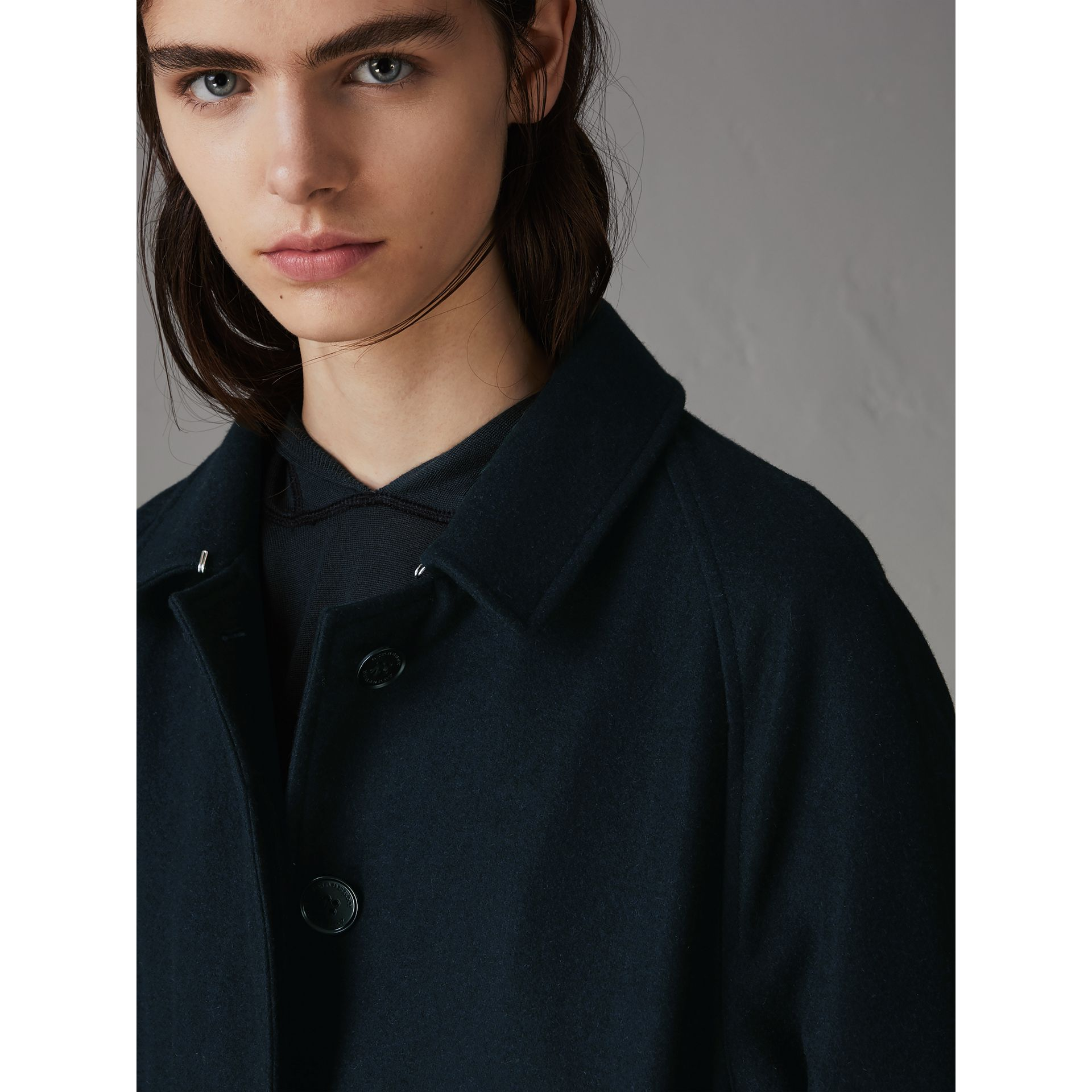 Cashmere Car Coat in Navy - Women | Burberry - gallery image 1