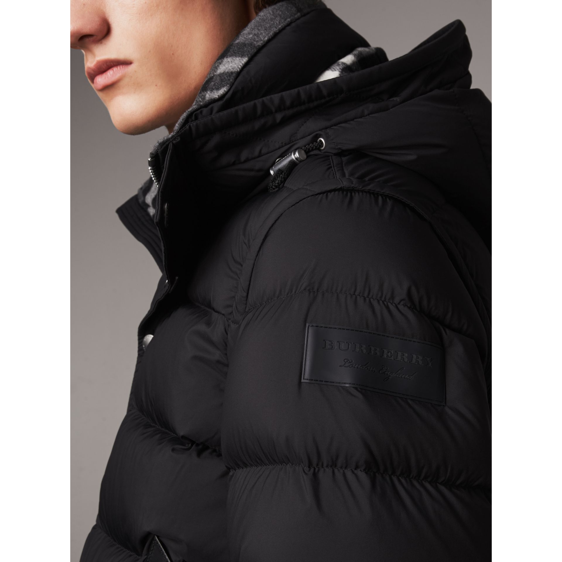 Detachable-sleeve Down-filled Puffer Jacket in Black - Men | Burberry - gallery image 1