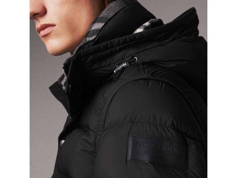 Detachable-sleeve Down-filled Puffer Jacket in Black - Men | Burberry - cell image 1