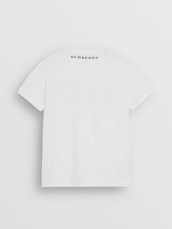 Skate Park Life Cotton T-shirt in White - Children | Burberry - cell image 3