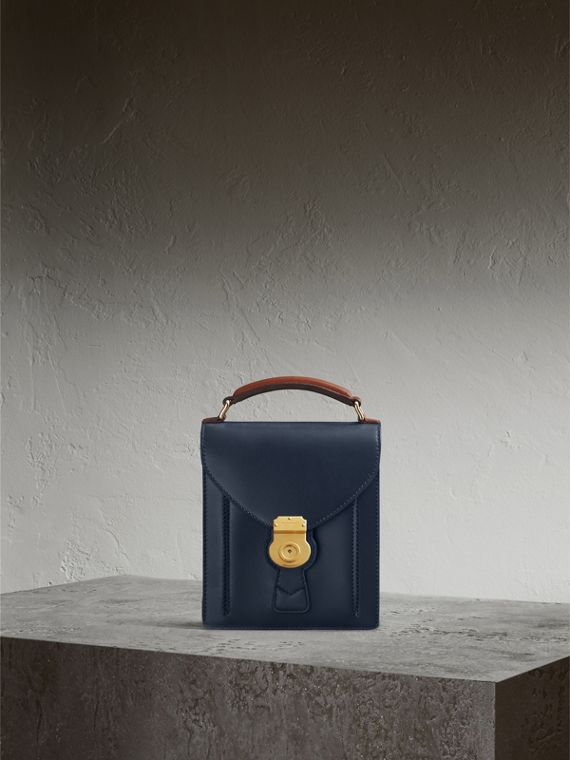 The Small DK88 Satchel in Dark Navy - Men | Burberry Singapore