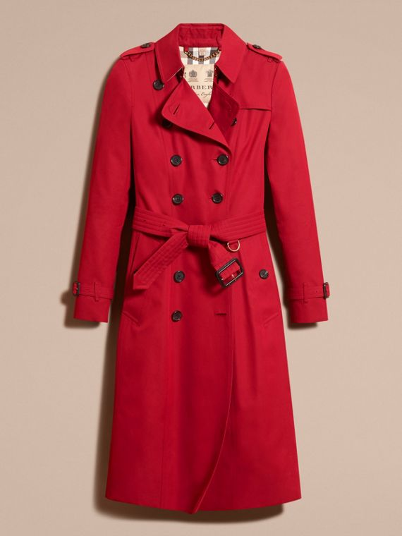 Parade red The Chelsea – Extra-long Heritage Trench Coat Parade Red - cell image 3