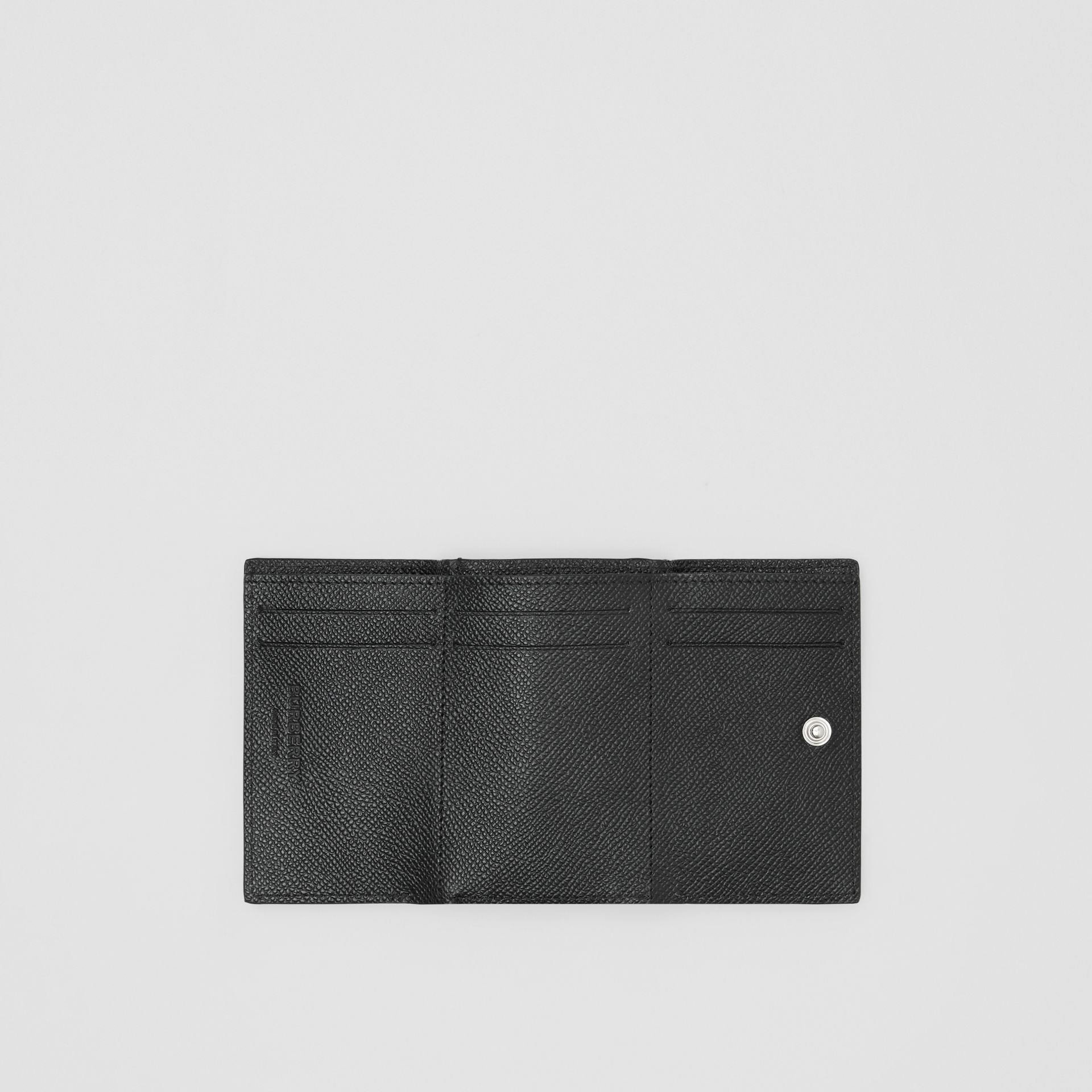 Small Grainy Leather Folding Wallet in Black - Men | Burberry - gallery image 2