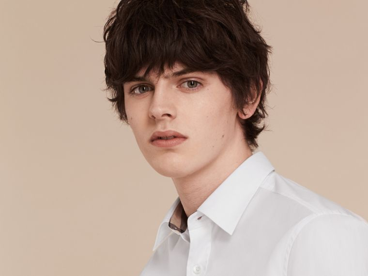 Stretch Cotton Poplin Shirt - Men | Burberry - cell image 4