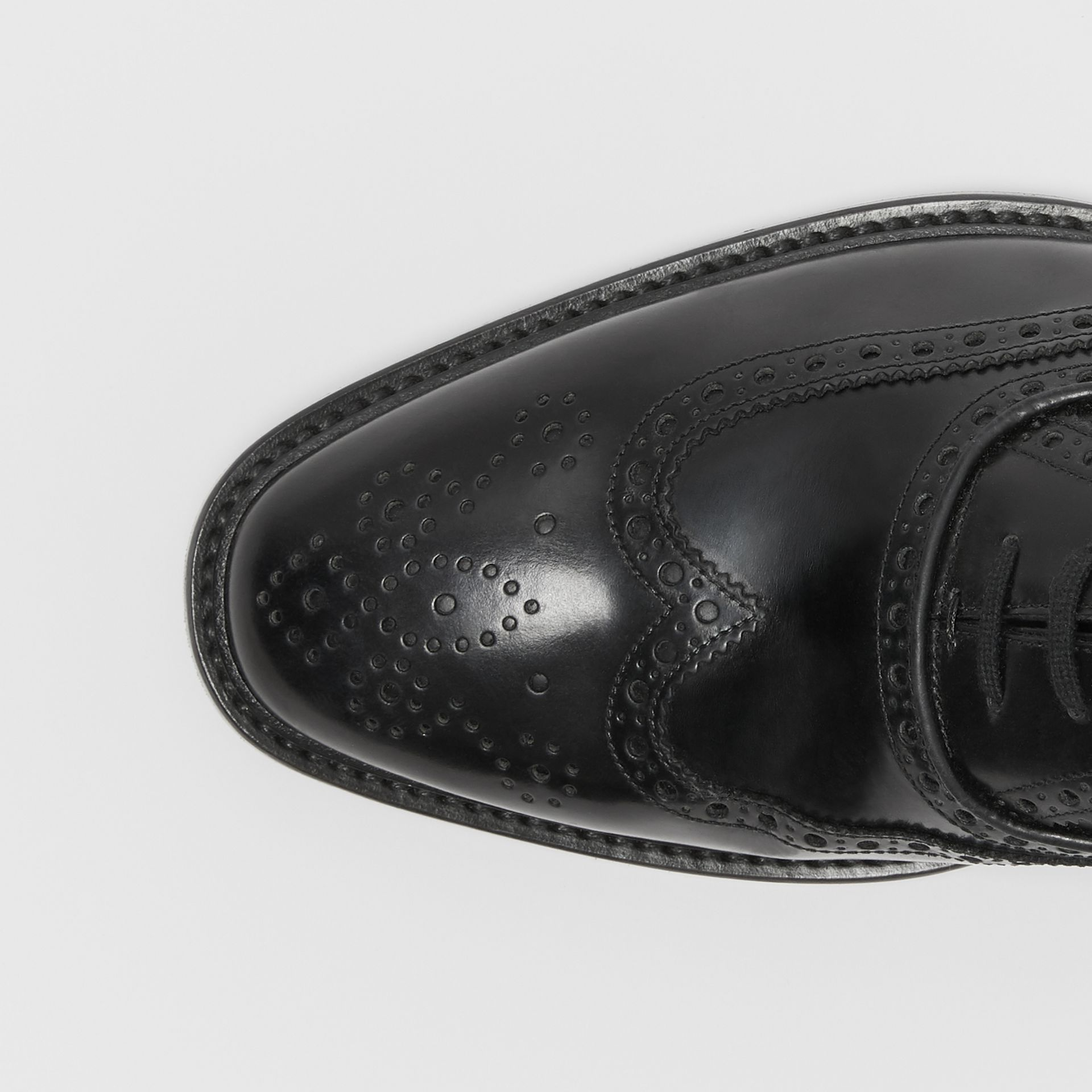 Leather Oxford Brogues in Black | Burberry - gallery image 1