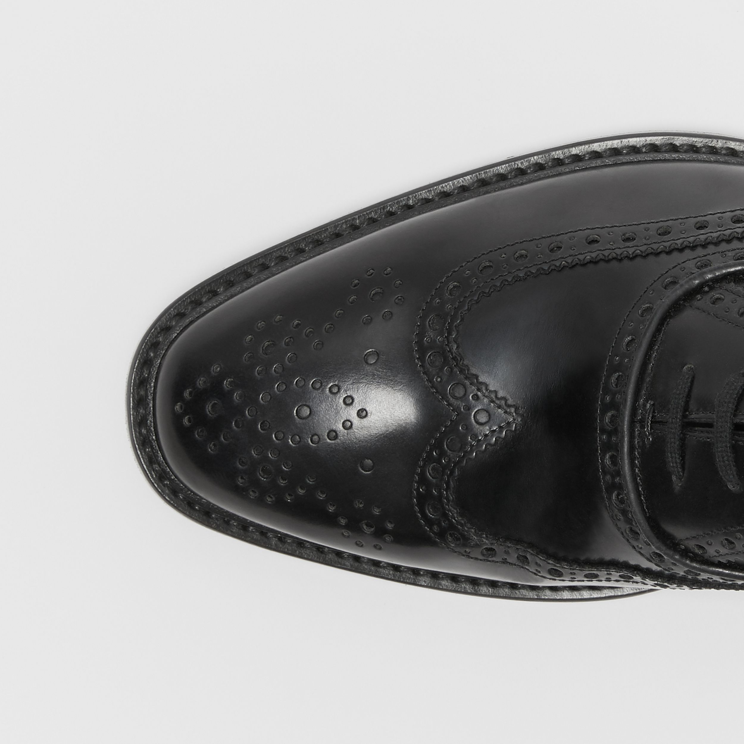 Leather Oxford Brogues in Black - Men | Burberry - 2