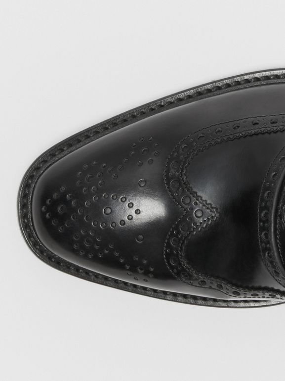 Leather Oxford Brogues in Black | Burberry United States - cell image 1