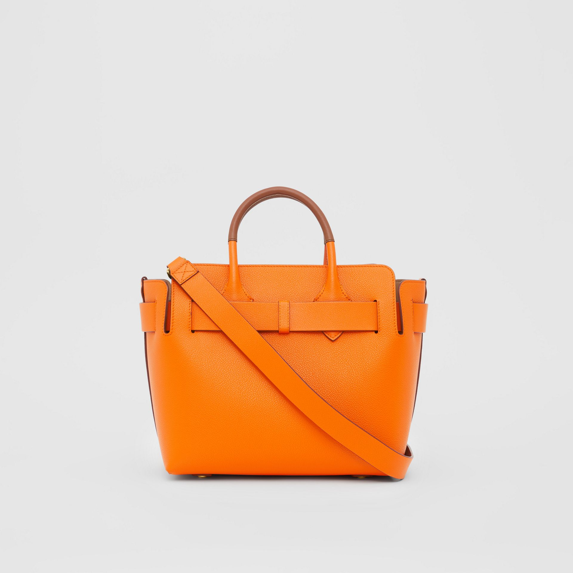 The Small Leather Triple Stud Belt Bag in Bright Orange - Women | Burberry - gallery image 7