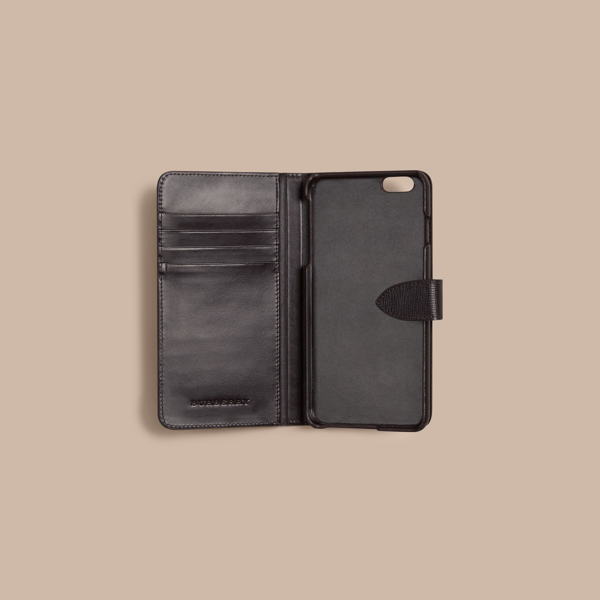 Wine London Leather iPhone 6 Plus Flip Case Wine - gallery image 2