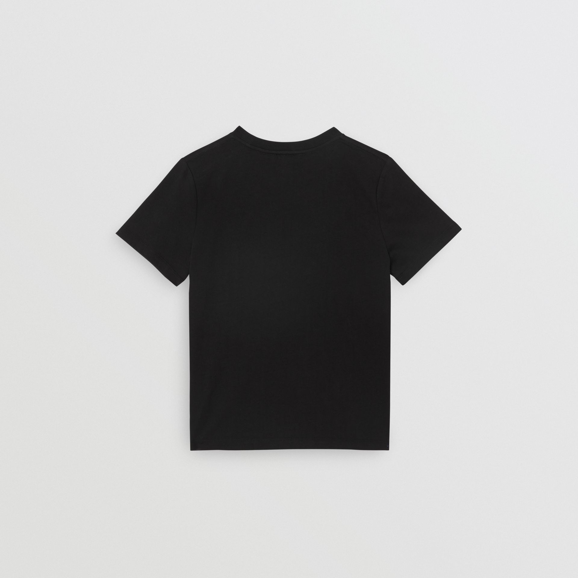 Logo Print Cotton T-shirt in Black | Burberry Australia - gallery image 4