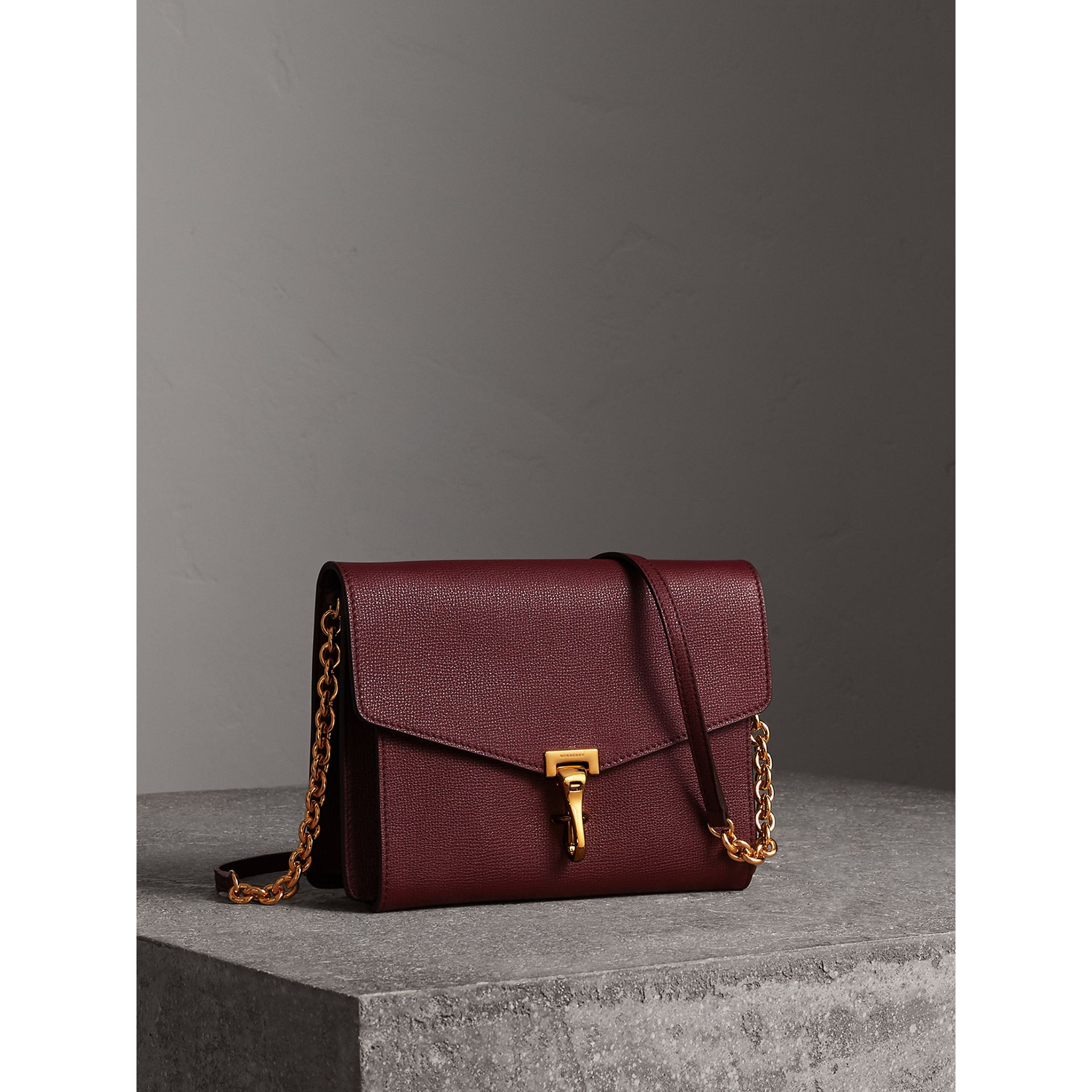 Small Leather Crossbody Bag in Mahogany Red - Women | Burberry - gallery image 6