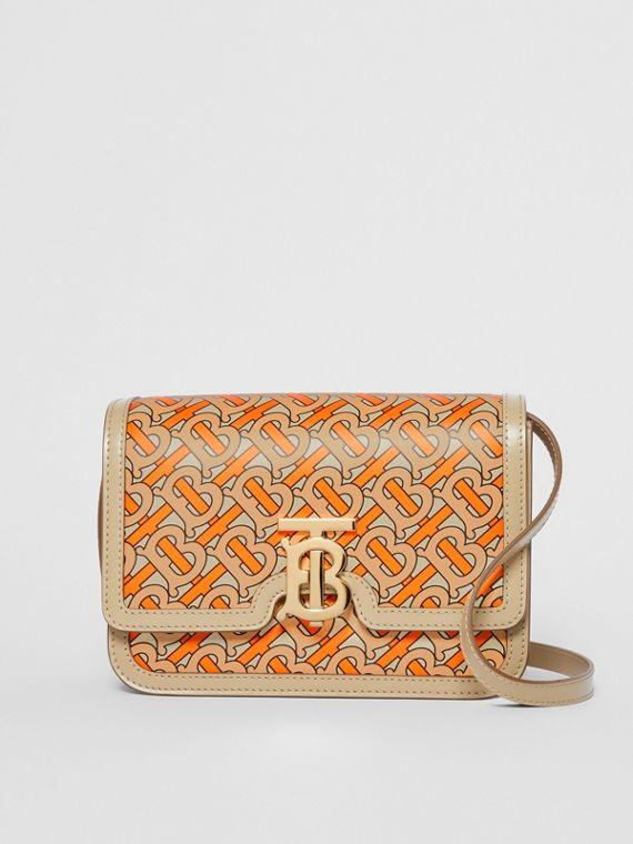 Petit sac TB en cuir Monogram (Orange Vif)