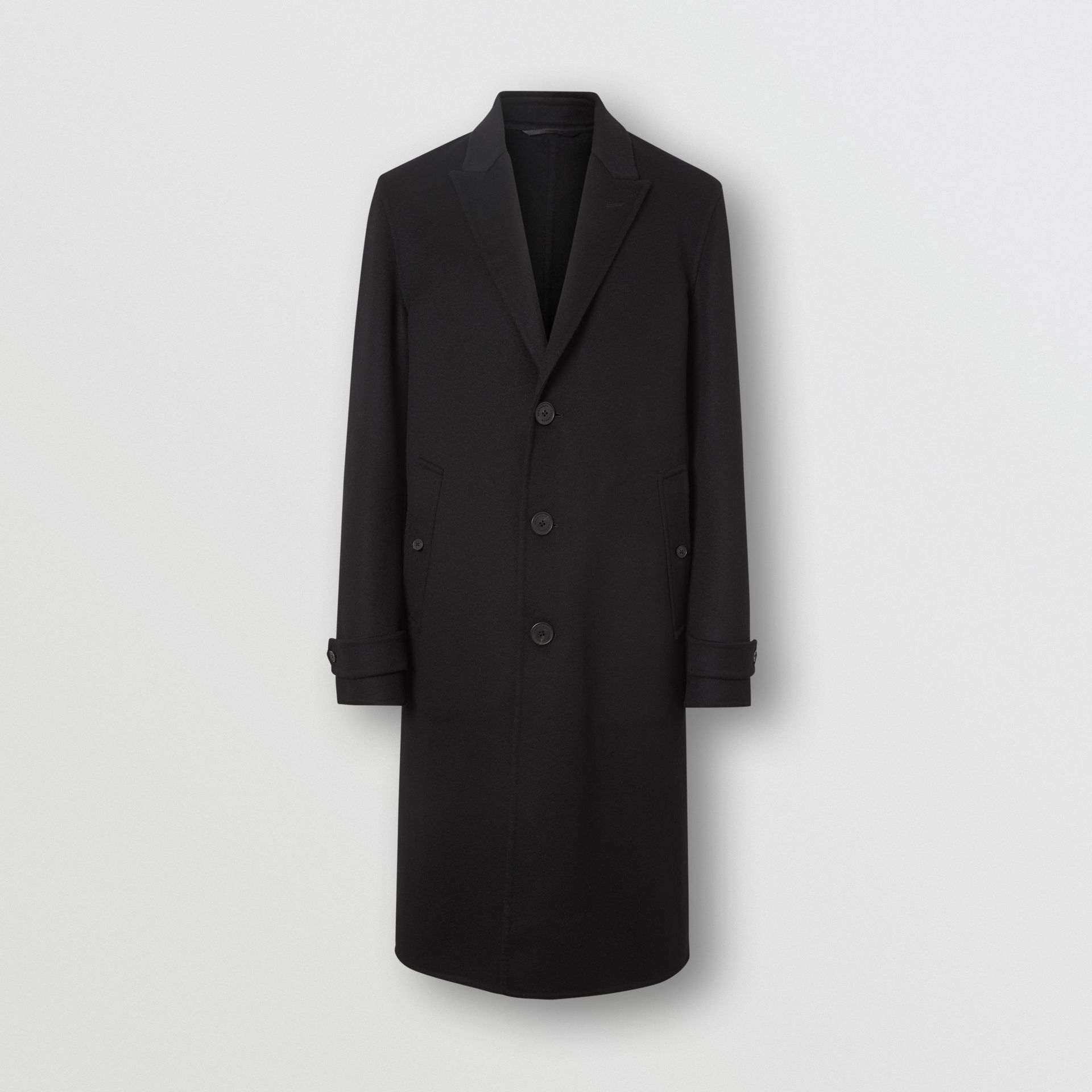 Cashmere Tailored Coat in Black - Men | Burberry United States - gallery image 3