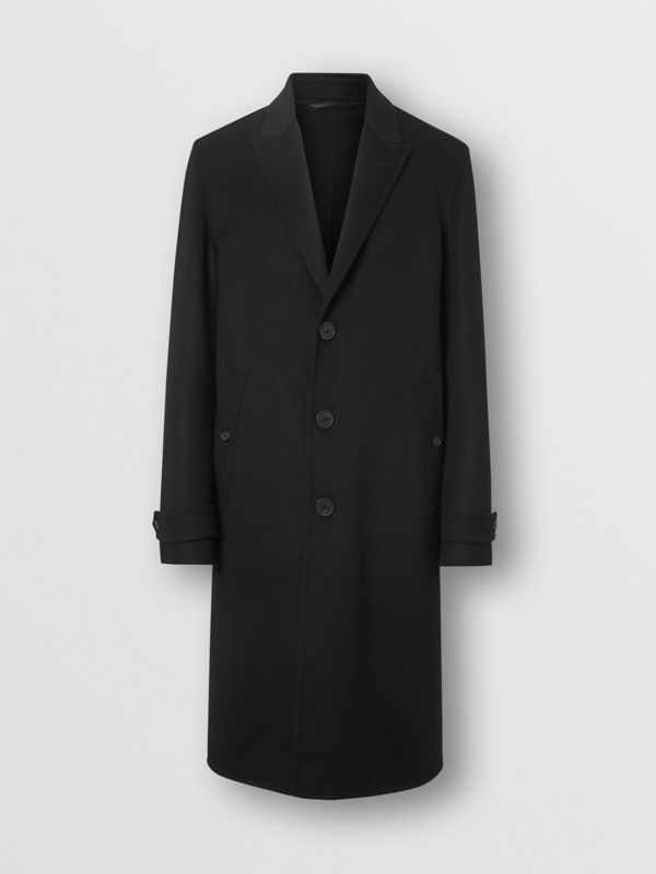 Cashmere Tailored Coat in Black - Men | Burberry United States - cell image 3